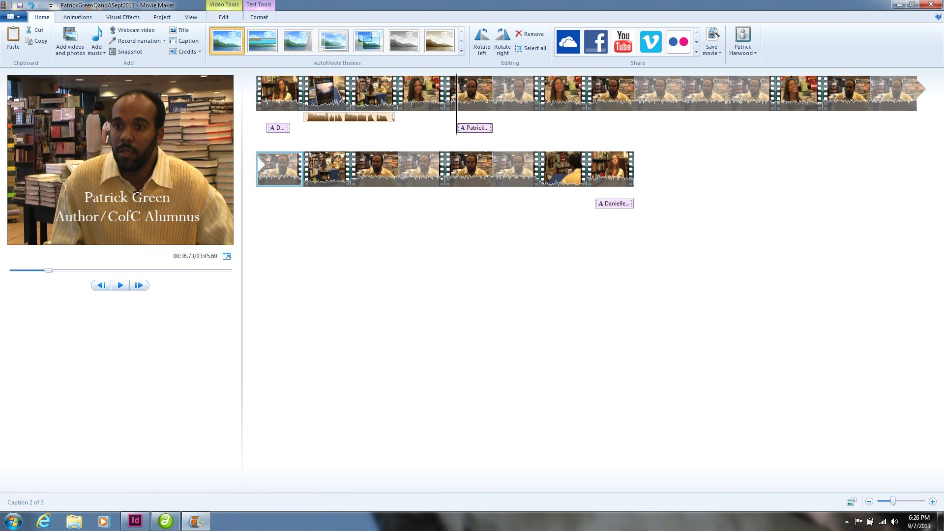 Inserting Cutaway Listening Shots In Movie Maker (step By Step  Instructions) · Movie Maker Cutaway Listening Screen Shot · Mac Imovie Video  Editing In 5
